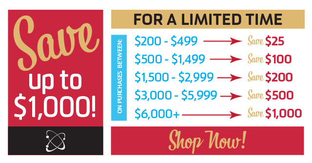 Save up to $1,000! Click for details