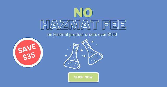 ¡Sin tarifa de materiales peligrosos! Haga clic para obtener detalles