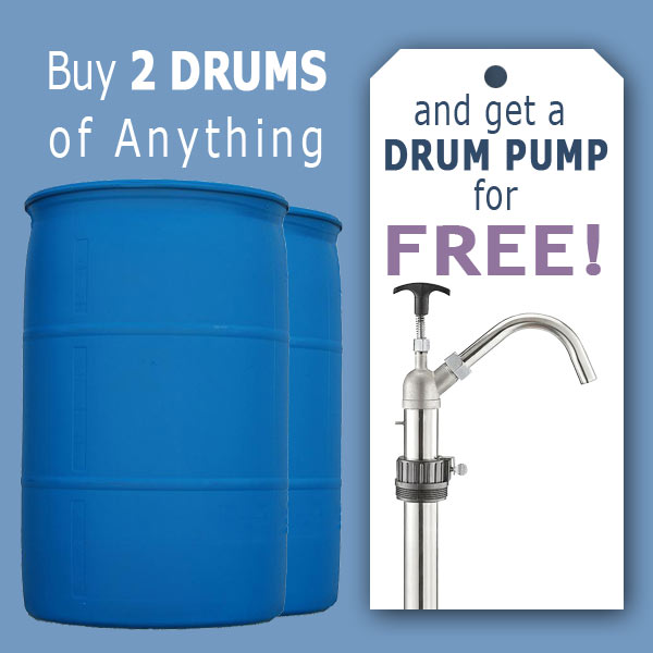 Buy 2 Drums of Anything and Get 1 Drum Pump Free